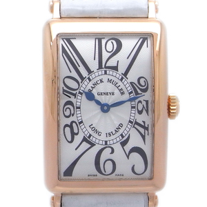 FRANCK MULLERLong Island Ladies Watch 952QZ 750 Pink Gold Silver Guilloche Dial