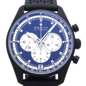 ZENITHEl Primero Chronograph Master Mens Watch 24.2041.4001 21.R576 Rubber Black Dial