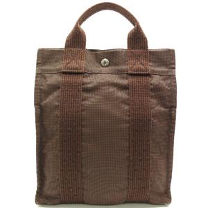 Hermes Yale Line Ad Backpack Ladies Daypack Canvas Brown DH50349