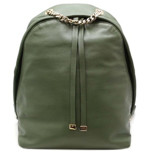 Furla Full La Backpack Ladies Daypack Leather Green DH51452