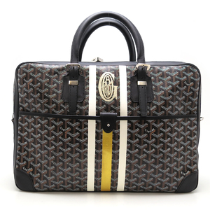 Goyard Ambassador MM Markage Handbag Men's Business Bag AMAAMBASS01 Coated Canvas Black