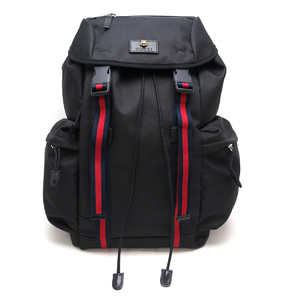 Gucci techno canvas backpack animal motif ladies' men daypack 429037 black DH50481