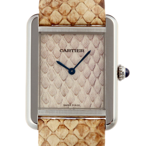 Cartier Tank Solo Ladies Watch W5200020 Stainless Steel Brown Dial DH52128
