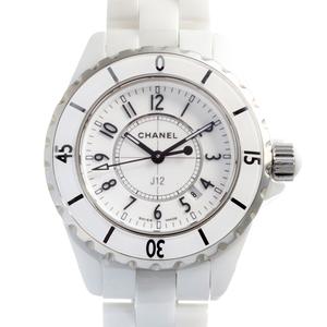 CHANEL J12 Ladies Watch H0968 Ceramic White Dial