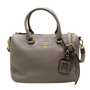 Prada 2WAY Ladies Boston Bag VITELLO PHENIX Gray DH53223