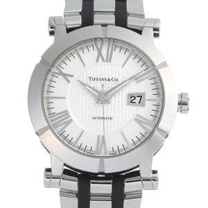 TIFFANYAtlas Gent Mens watch Z1000.70.12A21A stainless steel white Roman dial
