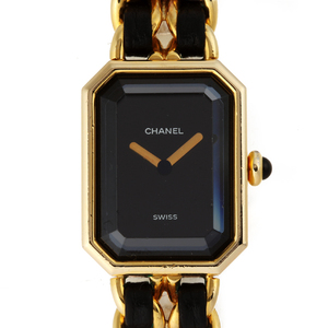 CHANEL Premiere L Ladies Watch H0001 GP Black Dial