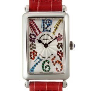 FRANCK MULLERLong Island Magic Color Ladies Watch 902QZ MAG COL Stainless Steel Silver Arabian Dial