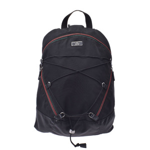GUCCI Gucci Shelly Black 122349 Unisex Nylon Backpack Daypack
