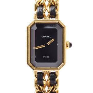 Chanel Quartz Gold Plated Women's Watch Premiere Size M H0001