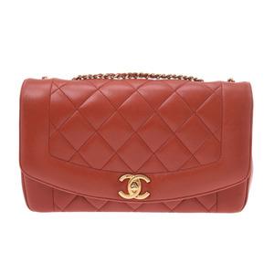 Chanel Matrasse Chain Shoulder Bag Red G Metal Ladies Lambskin CHANEL