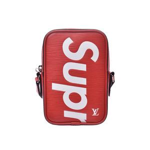 Louis Vuitton Epi Danube Supreme Collaboration Red M53434 Men's Ladies Genuine Leather Shoulder Bag LOUIS VUITTON