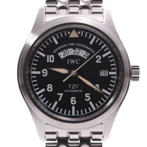 IWC SCHAFFHAUSEN Idabrucei Schaffhausen Freeger UTC IW325102 Mens SS Watch Automatic winding Black Dial
