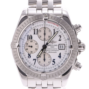 BREITLING Breitling Chronomat Evolution A13356 Men's SS Watch Automatic winding White Dial