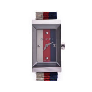Gucci Blue Red White Dial 147.5 Ladies SS Nylon Quartz watch GUCCI