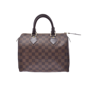 Louis Vuitton Damier Speedy 25 Brown N41532 Ladies Genuine Leather Handbag LOUIS VUITTON