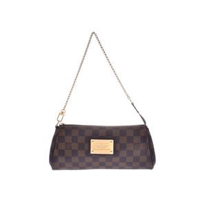 Louis Vuitton Damier Eva Brown N55213 Ladies Genuine Leather 2WAY Bag LOUIS VUITTON