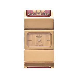 HERMES Location Champagne Dial LO1.201 Bangle Watch Ladies Cloisonne Quartz