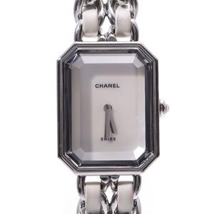 CHANEL Premiere Size L MOP Dial H1639 Ladies Leather SS Watch Quartz MOP Dial