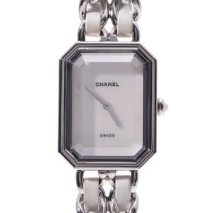 CHANEL Premiere Size L MOP Dial H1639 Ladies SS Leather Watch Quartz MOP Dial