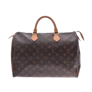 Louis Vuitton Monogram Speedy 35 Brown M41524 Ladies Genuine Leather Handbag LOUIS VUITTON