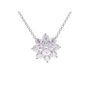 Harry Winston Sunflower Necklace Ladies Pt950 Diamond 0.72ct 5.8g HARRY WINSTON