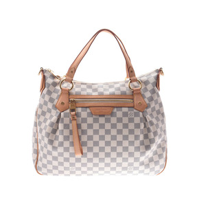 Louis Vuitton Azur Evora MM White N41133 Ladies Leather 2WAY Bag