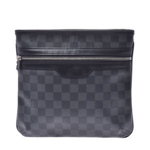 LOUIS VUITTON Louis Vuitton Damier Graffiti Thomas Black Gray N58028 Men's Canvas Shoulder Bag