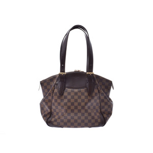 Louis Vuitton Damier Verona MM Brown N41118 Ladies Genuine Leather Handbag LOUIS VUITTON