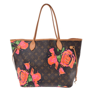 LOUIS VUITTON Louis Vuitton Monogram Rose Never Full MM Brown M48613 Ladies Canvas Tote Bag