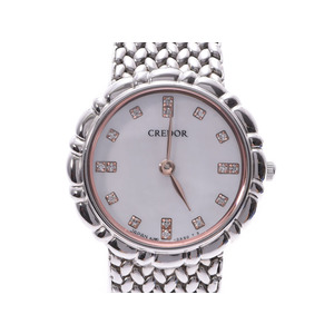 Seiko Credor 16P Diamond Shell Dial GSAW999 Ladies SS Quartz Watch SEIKO