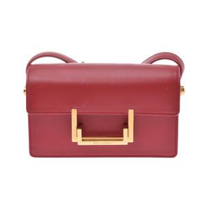 Saint Laurent Classic Lulu Red Gold Hardware Ladies calf shoulder bag