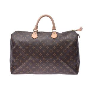 Louis Vuitton Monogram Speedy 40 Brown M41522 Men's Ladies Handbag Boston Bag LOUIS VUITTON