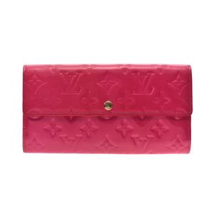Louis Vuitton Vernis Portfoy Yusala Old type Rose Pop M93633 Ladies long wallet LOUIS VUITTON