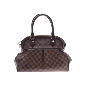 Louis Vuitton Damier Trevi PM Brown N51997 Ladies Leather 2WAY Handbag
