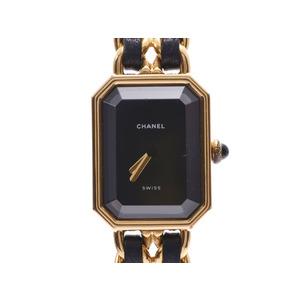 CHANEL Premiere M Size Ladies GP Leather Quartz Watch