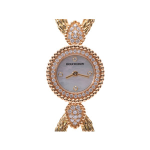 Boucheron Serpent Bohème Current model Shell Dial Ladies YG Quartz Watch BOUCHERON