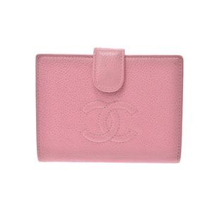 CHANEL Purse Pink Ladies Caviar Skin
