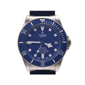 TUDOR Peragos Blue Dial 25600TB Mens Titanium Rubber Self-winding Watch TUDOR