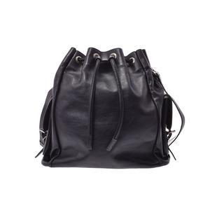 Saint Laurent shoulder bag black ladies men's calf