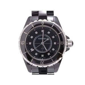 CHANEL J12 33mm 12P Diamond Mens Ladies Cera Quartz Watch