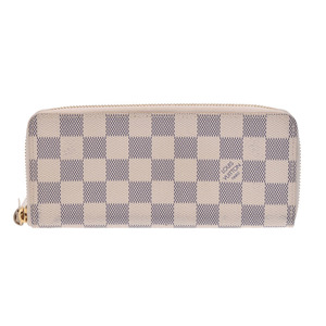 Louis Vuitton Azur Portfoy Clemence White N61210 Men's Women's Long Wallet LOUIS VUITTON