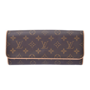 Louis Vuitton Monogram Pochette Twin GM Brown M51852 Ladies Genuine Leather Bag LOUIS VUITTON
