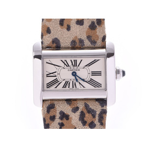 CARTIER Mini Tank Divan Steel Quartz Ladies Watch W6300255
