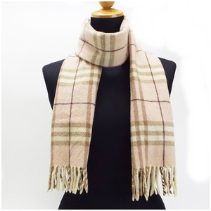 Burberry London wool muffler pink x check 146 24.5 cm BURBERRY LONDON