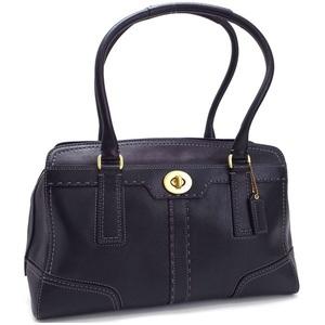 Coach tote bag shoulder black leather 11540 COACH