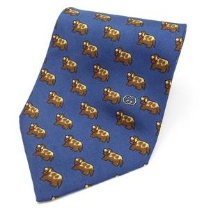 Gucci silk tie blue GUCCI