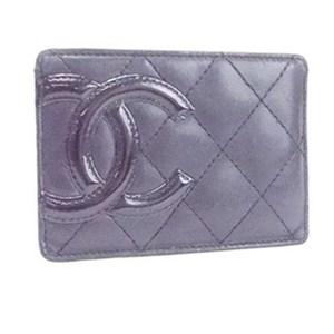 CHANEL Card Case Business Holder Cambon Line Coco Mark Lambskin Black