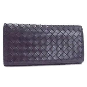 Bottega Veneta Intrecciato Long Wallet Leather Black BOTTEGA VENETA