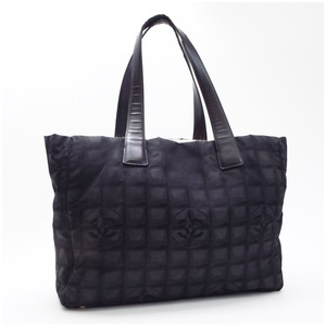 CHANEL New Travel Line Tote Bag Shoulder Nylon x Leather Black A15991 Serial Seal Boutique Logo
